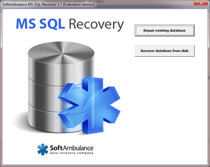 Recover deleted or damaged MS SQL databases