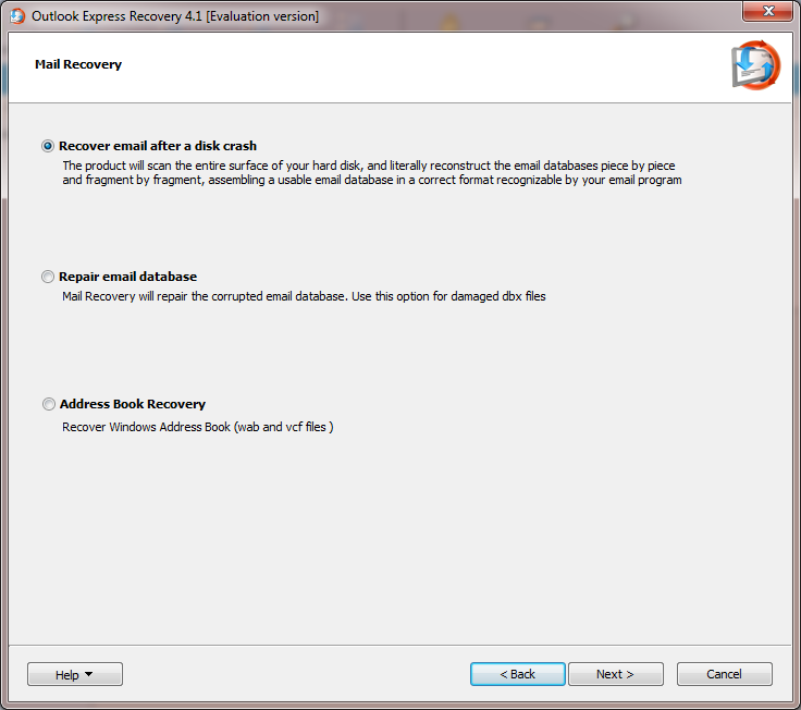 Outlook Express recovery software