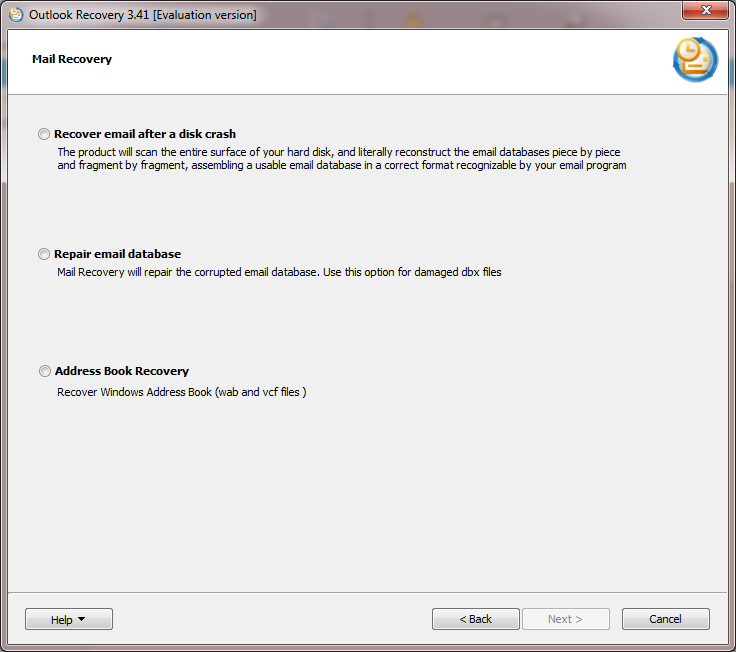 Outlook Recovery Features