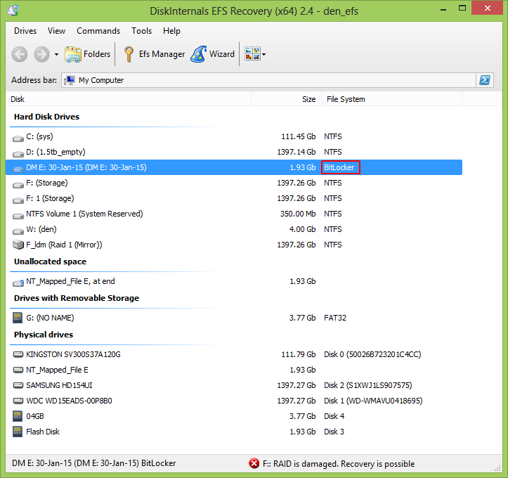 Step-by-Step BitLocker encrypted data recovery